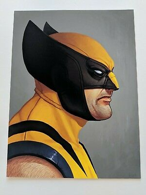 Wolverine Mike Mitchell Mondo Print Poster Marvel Portrait X-Men Yellow Classic