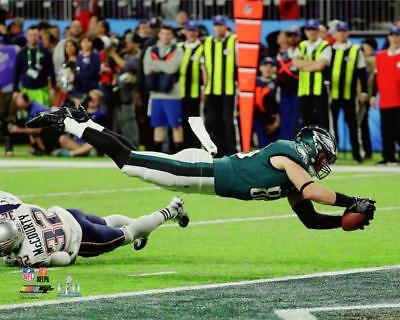 4dcc00c594e ZACH ERTZ Diving for a Touchdown SUPER BOWL LII 8x10 Photo PHILADELPHIA  EAGLES