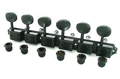 Wilkinson Deluxe WJ55S 6 In line Machine Heads / Tuners Black New Guitar parts