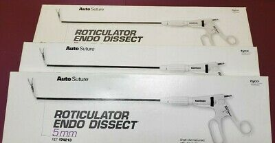 Auto Suture Surgical 174213 Roticulator Endo Dissect Scissors 5mm Lot of 3