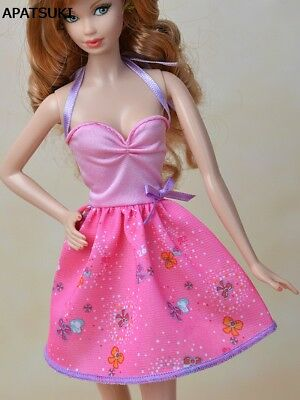 """Pink Fashion Doll Clothes Mini Dress For 11.5"""" Doll Clothes Party Short Dresses"""