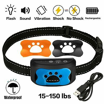 Rechargeable Anti-Bark No Bark Dog Collar Stop Barking Small Medium Large Dog