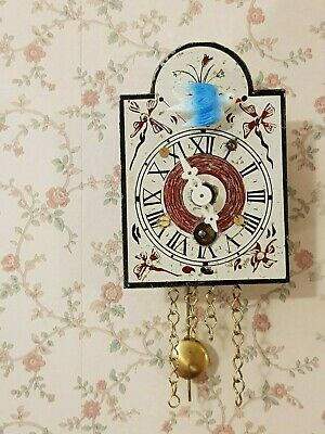 Vintage Black Forest Miniature Cuckoo Clock, fully functional