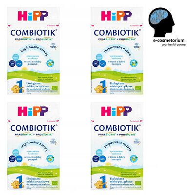 HiPP BIO Combiotic/Combiotik Stage 1 Organic First Infant Milk 600g - 4 Boxes