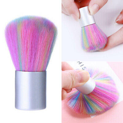 Soft Colorful Nail Art Brush Acrylic UV Gel Powder Dust Remover Cleaning Tools