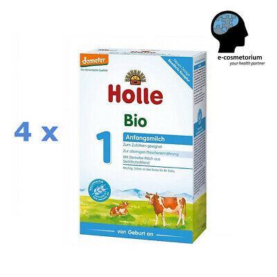 4 x Holle Organic Infant Milk Formula 1 - from birth (stage 1) 14.1 oz (400 g)
