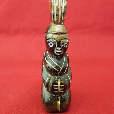 Chinese Hand Carved Jade The ancient people like jade pendant A449