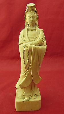 Chinese Buddism godness Guanyin wood carved statue of Buddha wooden statue A104