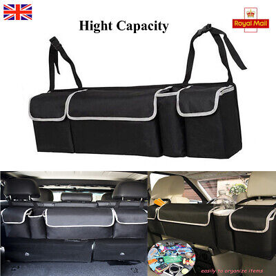 2in1 Car Trunk Accessories Multi-use Organizer Backseat Storage Bag Oxford Cloth