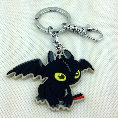 Toothless Night Fury How to Train Your Dragon 2 Film Character Rubber Keychain
