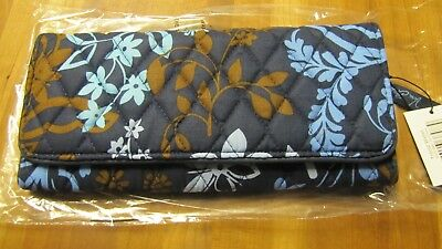 Vera Bradley Trifold Wallet 100% Cotton, Organizer, Photo Holder Retired Pattern