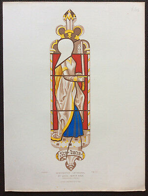 St Lucia, Winchester Cathedral Stained Glass, Owen Carter, Le Keux, orig c1844