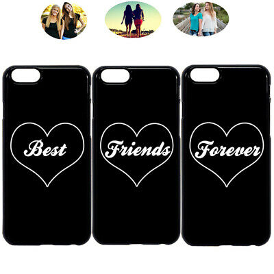 buy popular ec004 68ecc FASHION HEART BEST Friends Forever Phone Case Cover For iPhone X XR 6 7 8  S9 S10