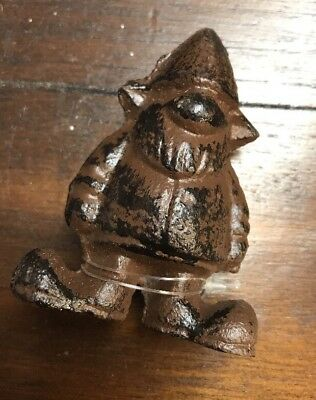 Rustic Cast Iron Gnome Figurine Paper Weight 3""