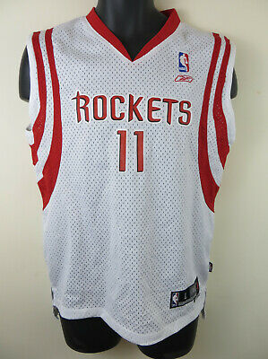 NBA Houston Rockets Jersey #11 Ming Reebok Basketball Vest Kids 14-16 Large Boys