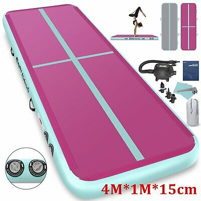 4M*15CM Airtrack Inflatable Air Track Floor Home Gymnastics Tumbling Mat GYM