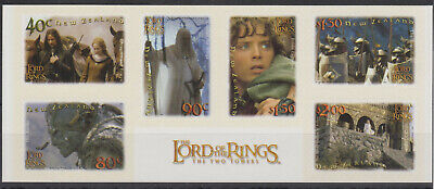 New Zealand 2002 Stamp Set Mnh Lord Of The Rings Two Towers Sg 2556-2561 S/A