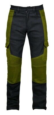 New Mens Stretch cargo motorbike Motorcycle Denim jeans with kevlar Protection