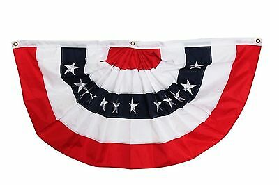 * SALE AMERICANA Patriotic Bunting 4' Long Great for Country Porch or Fireplace