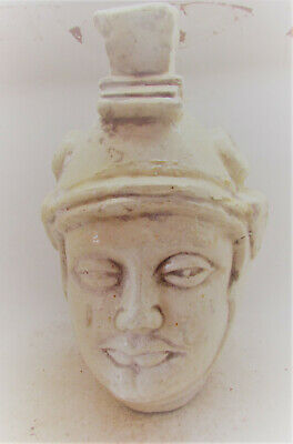 Ancient Greek Style Post Medieval Rennaisance Head Of Greek Soldier Lovely Item