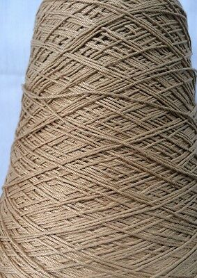Sunray Yarn. Color Khaki 100% Cable Durene Cotton. 1 lb 3oz