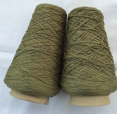 SUNRAY Yarns. Cable Durene Cotton. Color Olive Drab 1lb 2oz