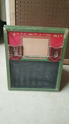 """RARE"" ANTIQUE CRESS TOY CO. 4-Fold ABC-123 Tapletop Chalkboard ""RARE"""