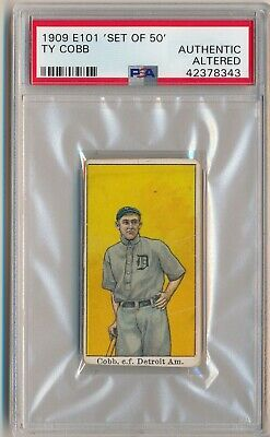 Ty Cobb 1909 E101 Anonymous Set Of 50 PSA un Auténtico Alteradas Detroit Tigers