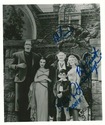 """THE MUNSTERS photo signed by 3: BUTCH PATRICK, AL LEWIS, PAT PRIEST. COA, 8""""x10"""""""
