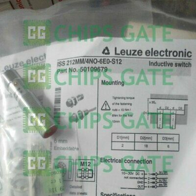 LEUZE ELECTRONIC IS 212MM/4NO-4E0-S12 50109673 M12 Inductive