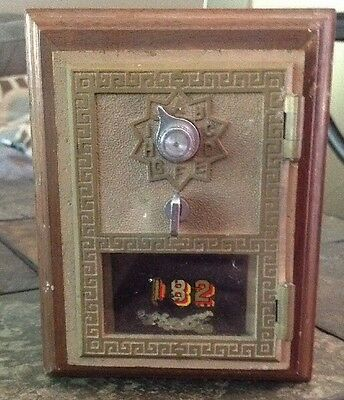 Original U.S. Post Office Lock Box Front Bank - Handcrafted By Oscar Hubert
