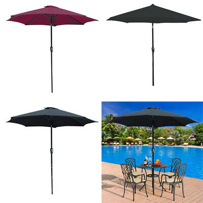 3M Garden Banana Parasol Sun Shade Patio Hanging Rattan Set Umbrella Cantilever