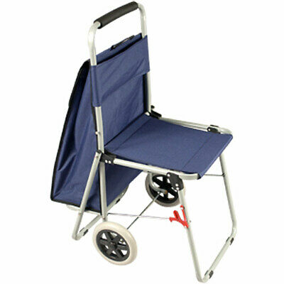 The ArtComber Folding Big Wheeled Portable Rolling Chair Art Cart Storage Blue