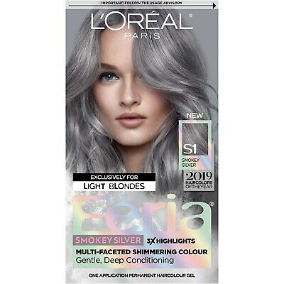 L'Oreal Paris Feria Smokey Silver S1 Hair Color Dye WORLD WIDE SHIPPING SAVE
