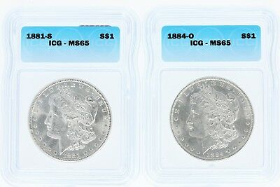 Pre 1921 Silver Morgan Dollar ICG MS65 S$1 Lot of 100 Mix Dates and Mint Marks