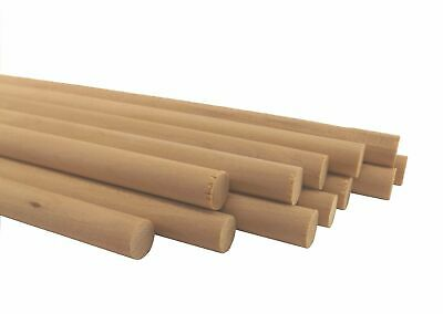 """50 pack - Thick 1/2"""" x 12"""" Natural Birch Wood Dowel Rods"""