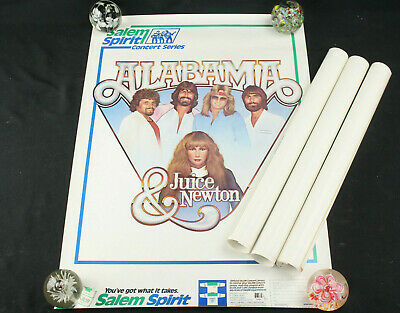 "Lot 4 Alabama & Juice Newton Salem Spirit Concert Series Posters 17.75"" x 24.75"""