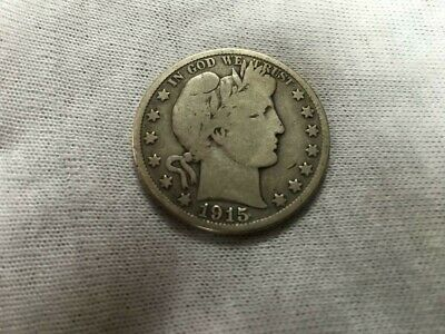 1915-D  Silver Barber Half Dollar FULL DATE VERY NICE COIN, SEE DESCRIPTION!
