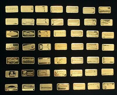 2.7 Grams Pure 24K Solid Gold Bar - The Franklin Mint - Official Gold Mine Ingot