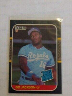 1x Bo Jackson 1987 Donruss 35 Rc Rated Rookie Lots