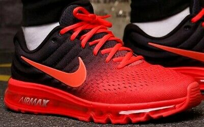 bd53d8f3f2116 Nike Air Max 2017 Running Shoes Crimson Black Mens Size 10.5 New 849559-600
