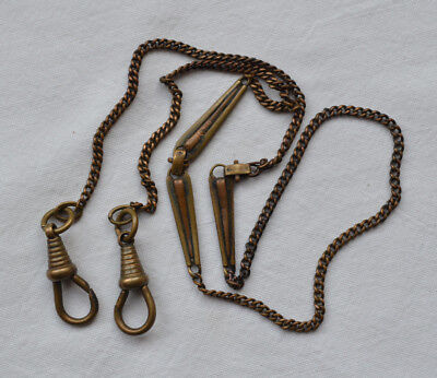 Victoria chain for Pocket Watch 470 mm Long chainlet metal clock vintage