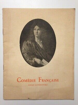 Ancien Programme Theatre Comedie Francaise Salle Luxembourg L'indigent 1951