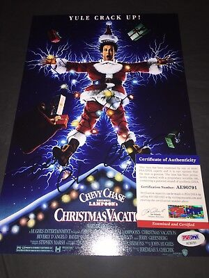 Chevy Chase Signed 8x12 Photo National Lampoons Christmas Vacation PSA/DNA #2