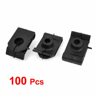 100 Pcs Plastic Vehicle Wheel Arch Cover Screw Mounting Clips 5.5mm Black