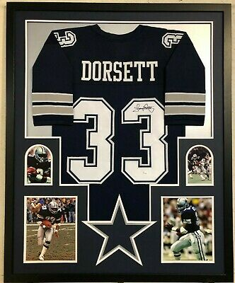 official photos e63f2 18b8a FRAMED DALLAS COWBOYS Tony Dorsett Autographed Signed Jersey Jsa Coa