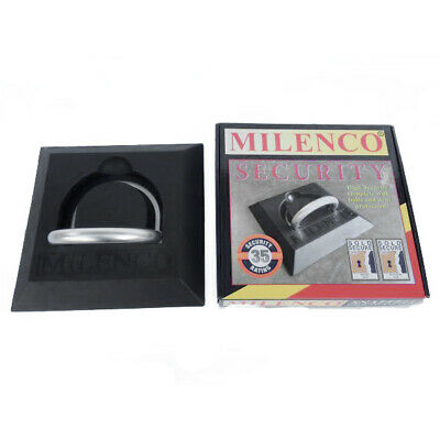 MILENCO Snaefell Motorcycle Ground Anchor Strong Security Theft Sold Secure Gold