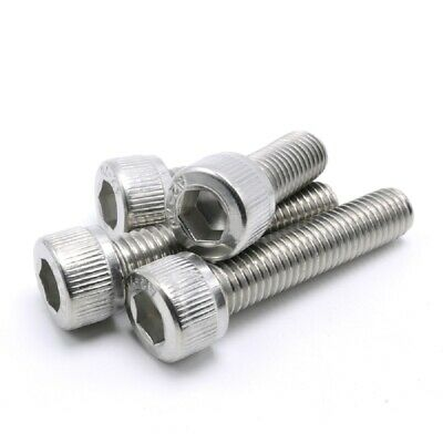 "304 Stainless Steel - UNC Socket Head Cap Screws Allen Bolts 10#-24, 1/4""-20"