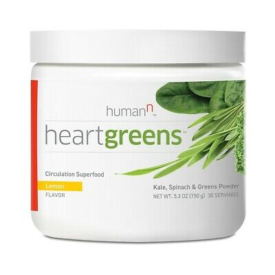 HumanN Heart Greens - Lemon Flavor Circulation Superfood - 30 Servings Exp 3/20
