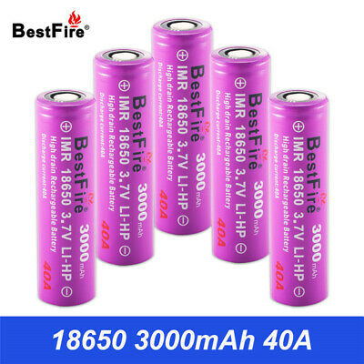 18650 Battery 3.7V Rechargeable Batteries 3000mAh 40A VS HG2 for Smoant Aspire